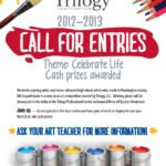 2012. As part of the team at Icon Graphics, I was tasked with taking the existing Trilogy Professional Center logo & creating a version of it for their annual high school fine arts competition, then creating a brochure and poster promoting the event. I tried to keep the design clean yet informal and welcoming.